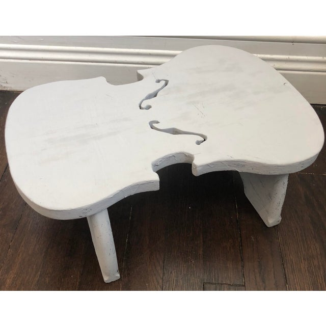 Paint Violin Shaped Wood Step For Sale - Image 7 of 7