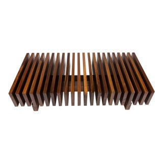 Solid Walnuit Modernist Coffee Table For Sale