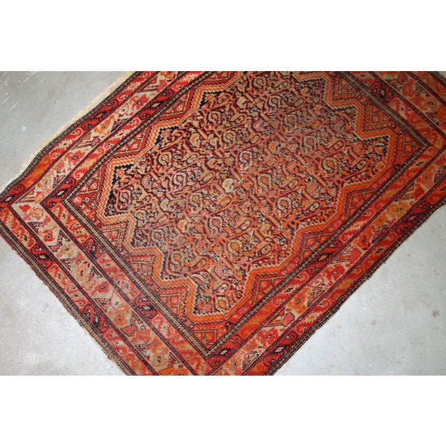 Late 19th Century 1880s, Handmade Antique Collectible Persian Mishan Malayer Rug 2.3' X 3.7' For Sale - Image 5 of 7