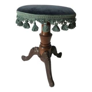 Antique Victorian Tassel Piano Stool