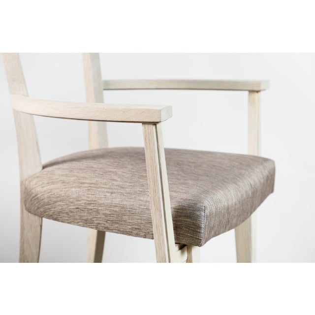 Textile Modern Klismos Chair by Paul Marra For Sale - Image 7 of 8