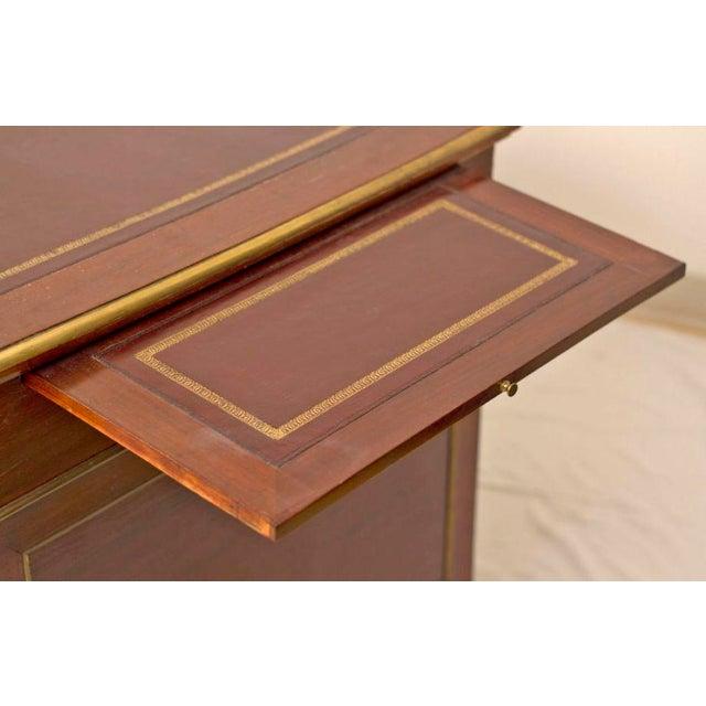 19th Century French Napoleon III Period Mahogany Desk For Sale - Image 4 of 5