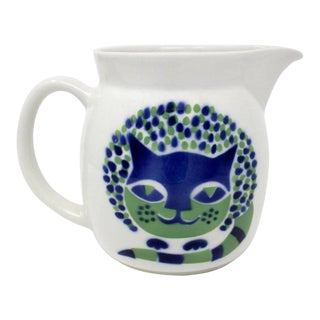 1960s Kaj Franck for Arabia, Finland Ceramic Cat Pitcher