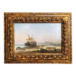 Traditional Auguste Ballin French Seascape For Sale
