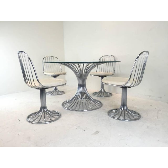 Mid-Century Modern Sculpted Dining Set - Image 7 of 8