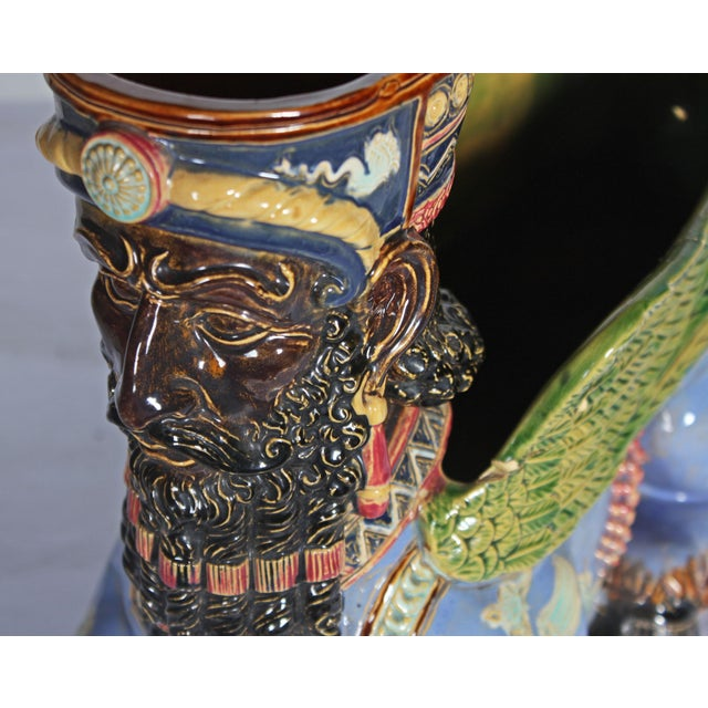 Late 19th Century German Majolica Planter For Sale In San Francisco - Image 6 of 7