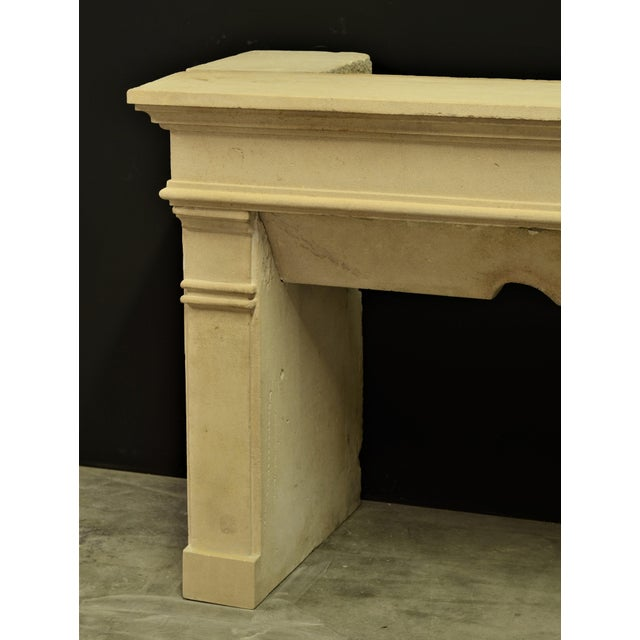 Antique Fireplace Mantel From France For Sale - Image 6 of 9