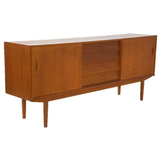 Nils Jonsson for Troeds Danish Modern Louvered Cabinet Sideboard