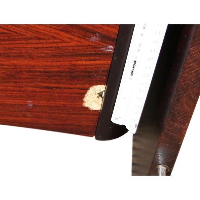 Brown Danish Rosewood King Size Platform Bed For Sale - Image 8 of 11