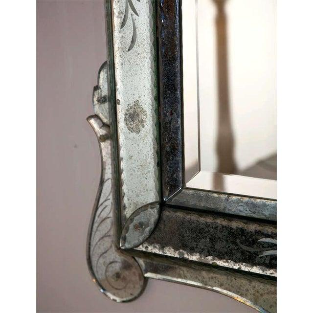 Venetian Glass Wall Mirror - Image 4 of 6