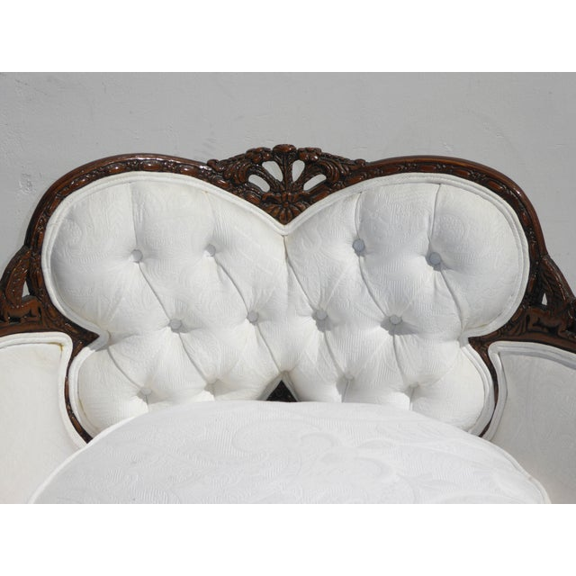 White French Rococo Ornate Chair For Sale - Image 7 of 11