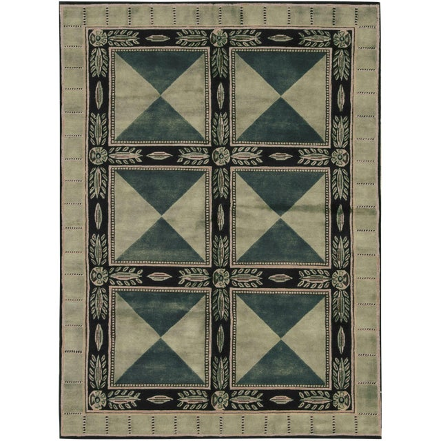 Contemporary Hand Woven Rug - 5'9 x 8' - Image 1 of 3