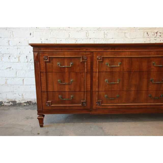 John Widdicomb Vintage Walnut 9-Drawer Dresser - Image 6 of 9