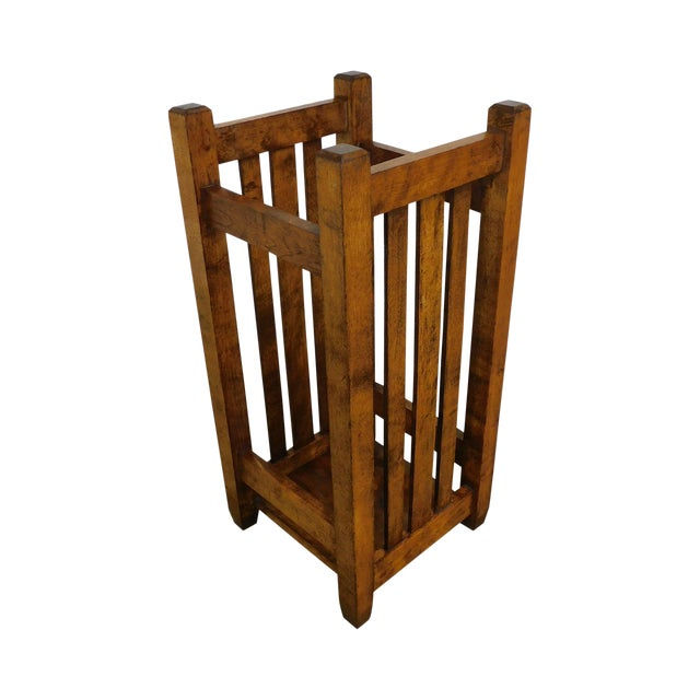 Mission Style Antique Umbrella Stand For Sale