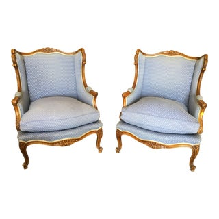 Vintage Mid Century French Bergeres- A Pair For Sale