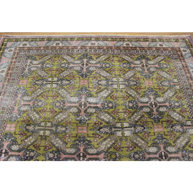 6.7x9.4 Feet Oriental Turkish Antalya Vintage Rug - Image 7 of 9