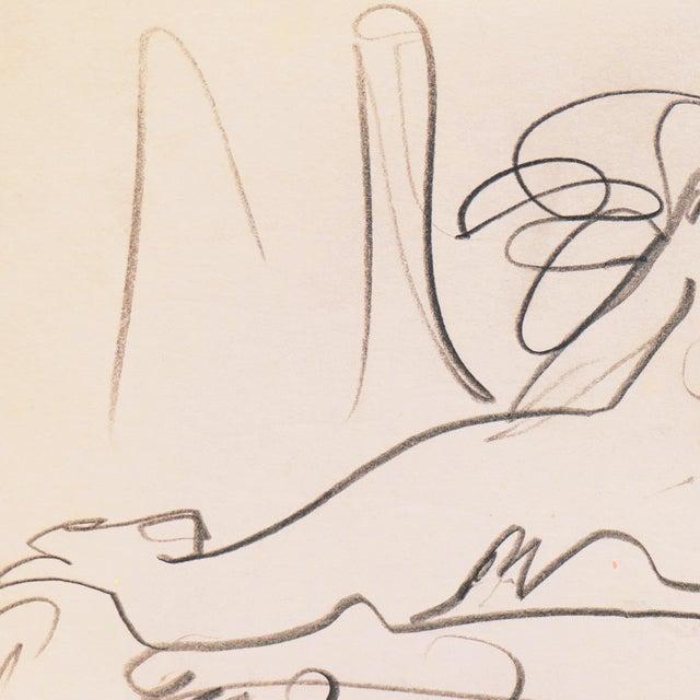 1950s Reclining Nude' by Victor DI Gesu, California Post-Impressionist, Louvre, Paris, Carmel, Lacma, Sfaa For Sale - Image 5 of 7