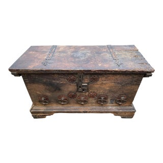 16th Century Italian Walnut Cassone Trunk For Sale