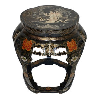 Black Lacquered Stool Chinese