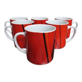 Vintage 1980's Studio Nova Mugs - Set of 6 For Sale