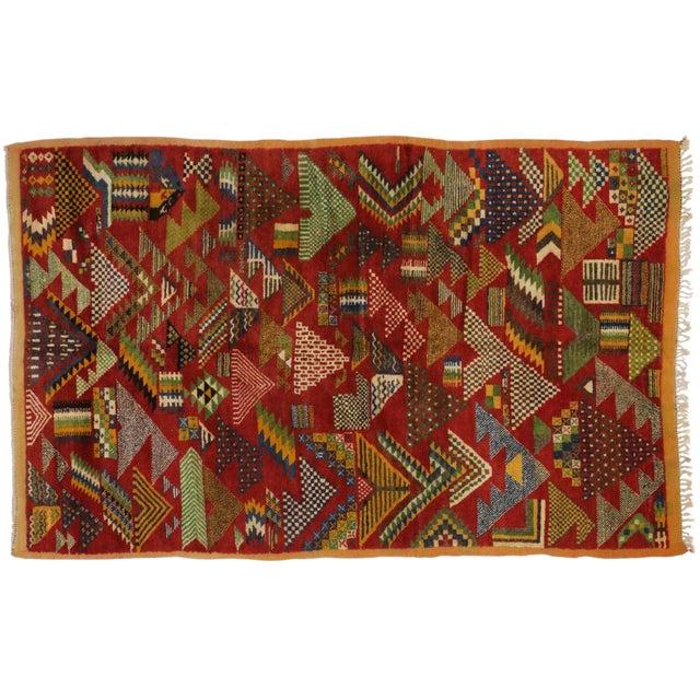 Vintage Berber Moroccan Rug -- 5'4 x 8'2 For Sale