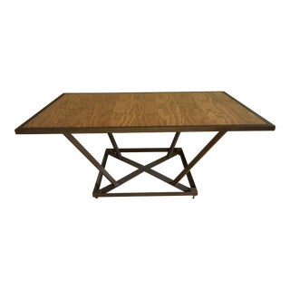 "Handmade Oak Plywood Coffee Table. Frame 1"" Steel Square Tubing. For Sale"