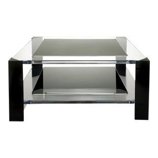 Alexandra Von Furstenberg | Modern Smoke Acrylic Coffee Table For Sale