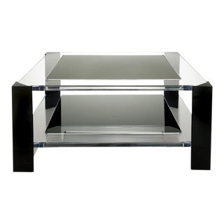 Modern Smoke Acrylic Coffee Table For Sale