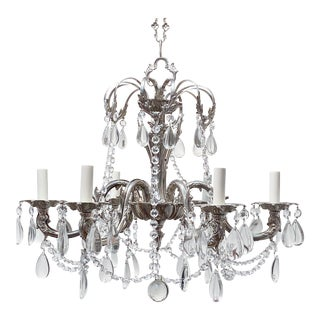 Vintage Spanish Style Silver Chandelier For Sale