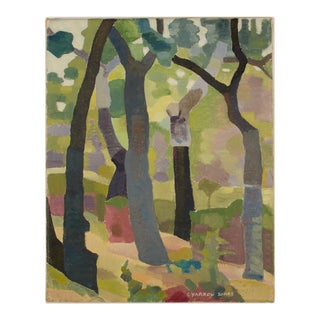 """Early 20th Century """"Mysterious Woods"""" Landscape Oil Painting by Ernest Yarrow-Jones For Sale"""