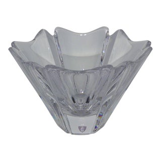 Swedish Crystal Petal Bowl For Sale