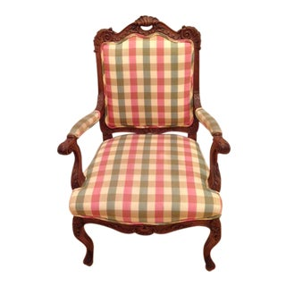 18th CenturyAntique French Louis XV Fauteuil Arm Chair For Sale