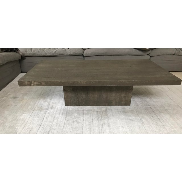 Restoration Hardware Reclaimed Teak Coffee Table: Restoration Hardware Reclaimed Russian Oak Coffee Table