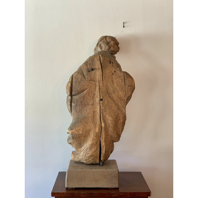 Antique Carved Architectural Figure For Sale - Image 4 of 8