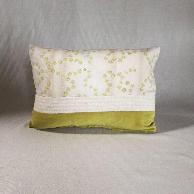 Contemporary Kim Salmela Citrus Patchwork Pillow For Sale - Image 3 of 3
