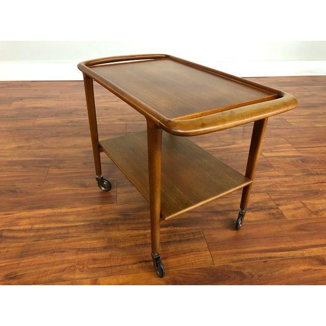 Vintage Jl Moller Teak Bar Cart or Serving Trolley For Sale - Image 11 of 13