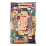 Image of Deco Inspired Tibetan Rug- 18'3'' X 11' Ft For Sale