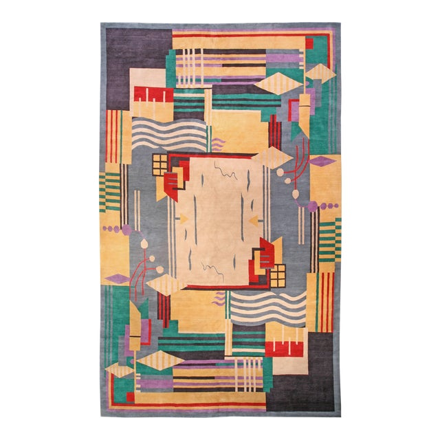 Deco Inspired Tibetan Rug- 18'3'' X 11' Ft For Sale