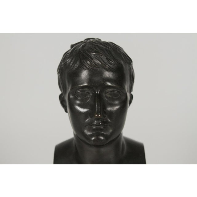 1900's Traditional Bronze Bust on a Marble Base For Sale - Image 4 of 10