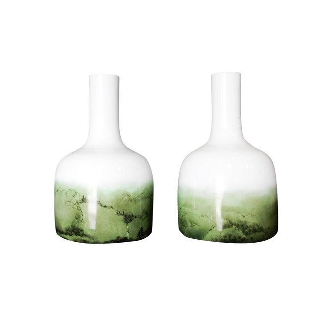 Celadon Chinese Glazed Vases - A Pair - Image 1 of 8
