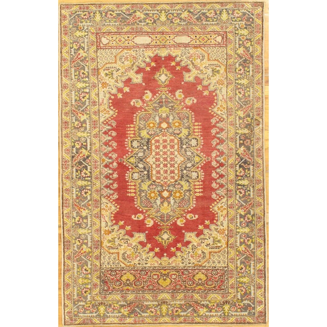 "Hand-Knotted Oushak Rug - 4' X 6'8"" - Image 1 of 2"