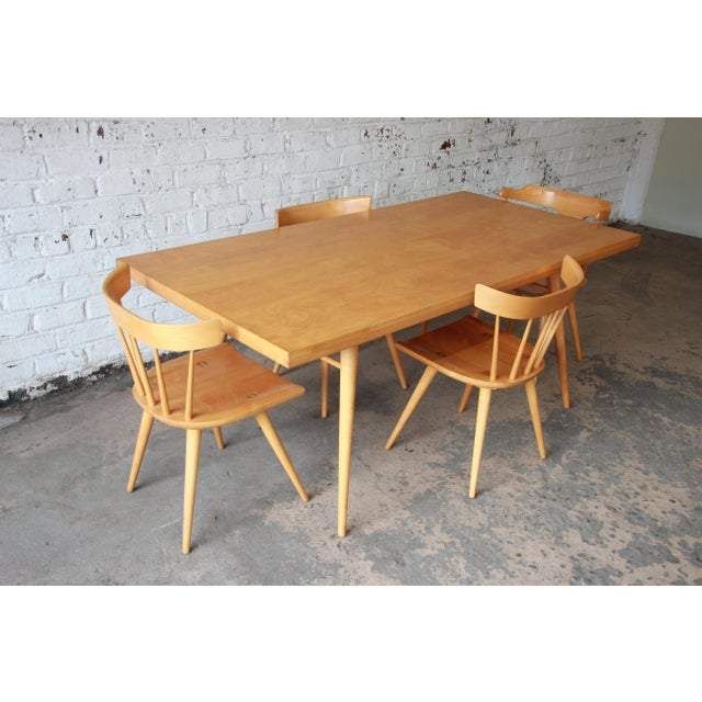Contemporary Paul McCobb Planner Group Dining Set for Winchendon Furniture For Sale - Image 3 of 11