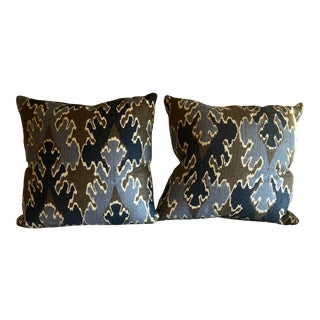 """Bengal Bazaar"" Ryan Studio 22 Inch Square Pillows For Sale"
