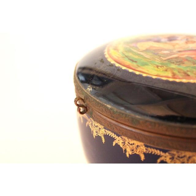 German Porcelain Lidded Trinket Box For Sale - Image 4 of 5