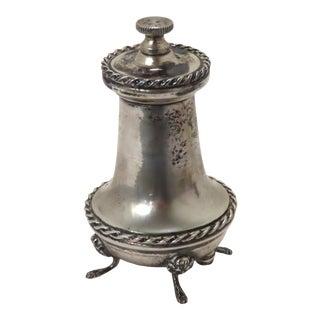 Fine Vintage Italian 800 Grade Coin Silver Pepper Mill For Sale