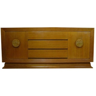 James Mont Sideboard or Buffet in Bleached Mahogany For Sale