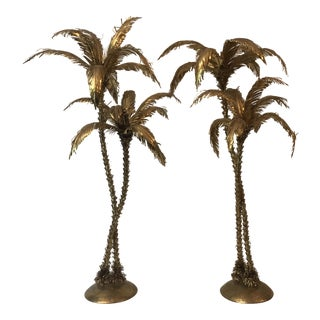 1950s Mid-Century Modern M.Riccardi Middle Century Palms - a Pair For Sale