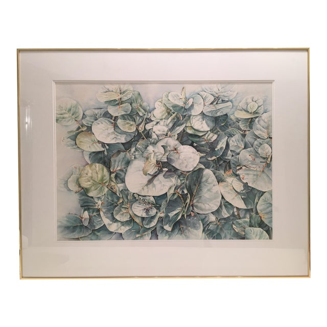 Original Framed Watercolor Painting by Anna Chen For Sale