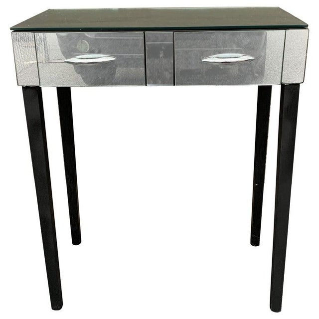 Mid Century Mirrored Vanity Table For Sale In New York - Image 6 of 6