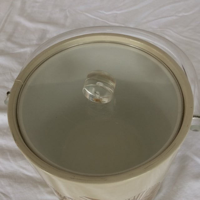 Sigma Lucite & Vinyl Seashell Ice Bucket & Tongs - 1970's For Sale - Image 11 of 13